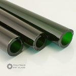 Trautman Art Glass Green X Tube Odds