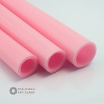 Trautman Art Glass Pink Cadillac Tube Odds