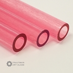 Trautman Art Glass Pink Lollipop Tube Odds