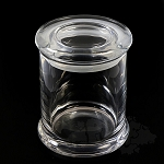 Clear Heavy Glass Jar. DJAR-CL