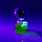 3Dot Skull UV Mini Tube. 3DOT-46