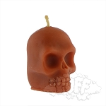 Buzz Beeswax Skull Candle.  BUZZ-C7-ORG