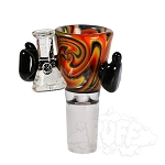 Kirill Glass Linework Knockout Bowl Holding UV Bong With Opal. KK-7