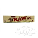 Raw Organic Unrefined Pre-rolled King Size Cones 32 Pack.