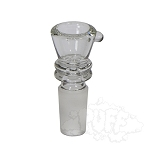 Clear Glass Funnel Bowl With Marias. WL-B1C