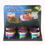 6 Pack 4 pc Aluminium Oil Slick Grinders 2.5