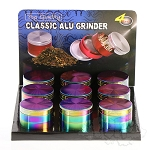 9 Pack 4 pc Aluminium Oil Slick Grinders 2.2