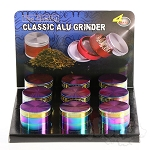 9 Pack 4 pc Aluminium Oil Slick Grinders 2