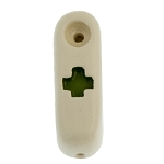 Buzz Ceramics Mini Green Cross Pipe. BUZZ-23