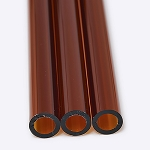 Chinese Tube 38 x 4mm Amber