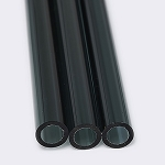 Chinese Tube 25 x 4mm Transparent Black Charcoal