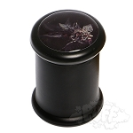 Black Glass Pop Top Jar.  DJAR-B2