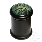 Black Glass Pop Top Jar.  DJAR-B9