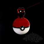 Eckardt Glass Pokeball Pendant. ECK-5