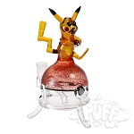 Eckardt Glass Pikachu On Poke Ball Dab Rig.  ECK-500