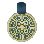 Glass Maze Green & Blue With Opals GMAZE-1A