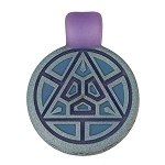 Glass Maze Grey & Blue Triangle Carved Pendant  GMAZE-1B