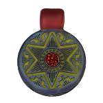 Glass Maze Carved Pendant Black Star & Opal GMAZE-5A