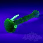 IL Glass Double Layer UV-Reactive Spoon Pipe.  IL-55