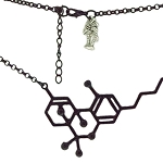Koko & Kai Black THC Molecule Necklace