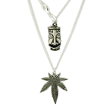 Koko & Kai Sterling Silver Small Leaf Necklace