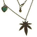 Koko & Kai Bronze Large Leaf Necklace