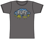 Puff Storm Cloud T-Shirt Lady's Grey.  PUFF-510-GRY