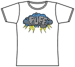 Puff Storm Cloud T-Shirt Lady's White.  PUFF-510-WHI