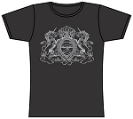 Puff Family Crest T-Shirt Womens's Heather Grey.  PUFF-530-GRY