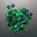 Coin Square Green 3mm. O-COS-G3