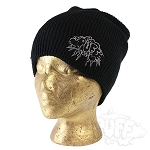 Puff Slouch Toque Black.  PUFF-120-blk
