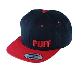Puff Classic Snapback W/ Block Letters.  PUFF-20-RED