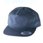 Puff 5 Panel Unstructured Snapback W/ Storm Cloud.  PUFF-40-GRY