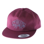 Puff 5 Panel Unstructured Snapback W/ Storm Cloud.  PUFF-40-MAR