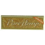 Single Pack Pure Hemp Unbleached Regular Rolling Papers.  S-PURE-UB-REG