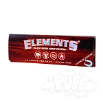 Elements Red Hemp 1 1/4 Rolling Papers Single Pack. S-ELEMENTS-RED-1.25