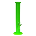 Silicone Straight Bong Green. SIL-1-GRN