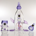 Skullfish Glass / Kahuna Glass Skullracha Bottle Set