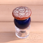 Sloth King Hand Carved Rose Bubble Cap.  SLOTH-CAP-B