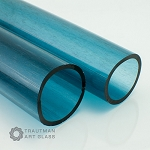 Trautman Art Glass Blue Stardust Tube (Per Pound).  TAG-BLUSTARTUBE