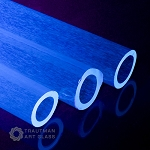 Trautman Art Glass Blue-V Tube (Per Pound). TAG-BLU-VTUBE