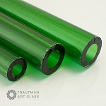Trautman Art Glass Green Stardust Tube Odds (Per Pound). TAG-GREENSTARTUBE-ODD