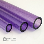 Trautman Art Glass Purple Lolly Tube (Per Pound). TAG-PURPLOLLYTUBE