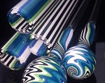 Colorado Color Co Icy Green Zebra Lined Tubing (Per Pound). CCC-IGZEBRA
