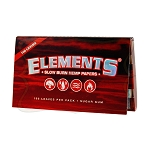 Elements Red Regular Hemp Rolling Papers Single Pack.  S-ELEMENTS-RED-REG