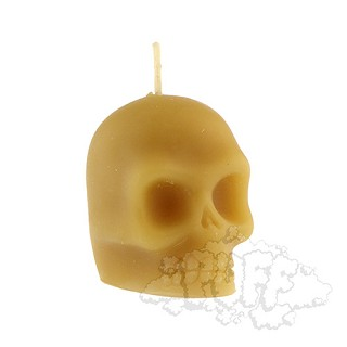 Buzz Beeswax Skull Candle.  BUZZ-C7-NAT