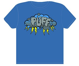 Puff Storm Cloud T-Shirt Men's Blue.  PUFF-500-BLU