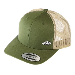 Puff Trucker Cap With Mini Logo.  PUFF-10-GRN
