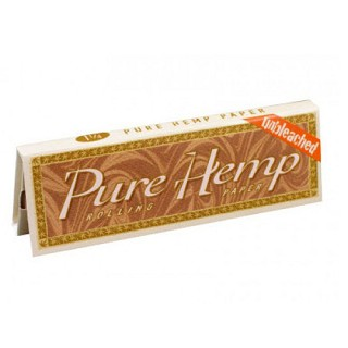 "Single Pack Pure Hemp Unbleached 1.25"" Rolling Papers. S-PURE-UB-1.25"""