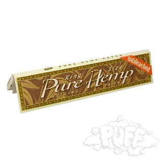 Single Pack Pure Hemp Unbleached King Size Rolling Papers. S-PURE-UB-KING